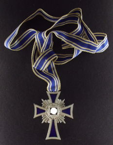 Cross of honor of the German mother in silver 2nd class (2nd shape),  Third Reich