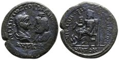 Roman Empire - GORDIAN III (238-244 AD) Æ Pentassarion of Markianopolis (28mm; 12.43g), Moesia Inferior 215 AD. (Gordian & Serapis / Zeus) - Very Rare