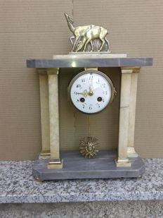 Gate style French clock - Marble - Early 20th century