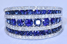 3.10 Ct Sapphires and Diamonds, multiple ring NO reserve price!