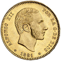 Spain - Alfonso XII - 25 pesetas gold - 1881 - Madrid MSM