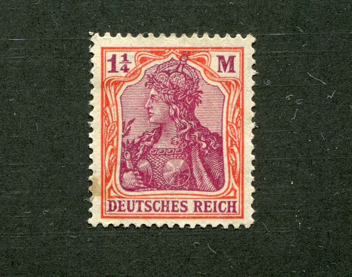 German Empire/Reich Michel no. 106 in the variant C as 4s / 2s pair from top edge and Michel no. 151 Y quatrefoil