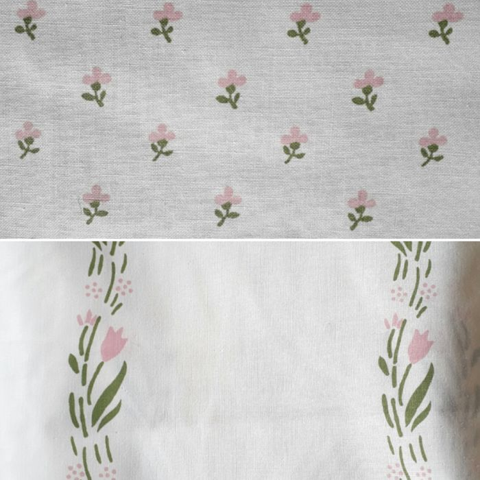 Laura Ashley Fabrics Textiles White With Floral Design From