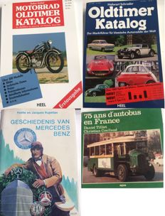 4 various automotive books 2x German 1x French and 1x Dutch