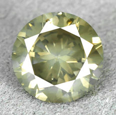 Diamond - 1.01 ct, Natural Fancy Yellowish Grey Si2 very low reserve price