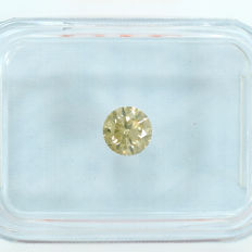Diamond - 0.36 ct, VS2 – Natural Intense Greenish Orangy Yellow