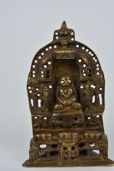 Jain altar in bronze - India - approx. 1960