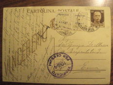 Italy, 1944/1945 – Lot of three postcards, including two with AMGOT stamps