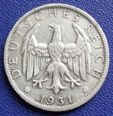 Weimar Republic - 2 mark 1931 D - silver