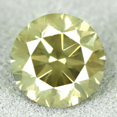 Diamond - 0.99 ct, Si2 – Natural Fancy Dark Yellowish Green