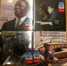 Four legendary jazz albums || Limited editions ||  Billie Holiday, Ella Fitzgerald, Louis Armstrong, Art Blakey || 180 gram || Deluxe