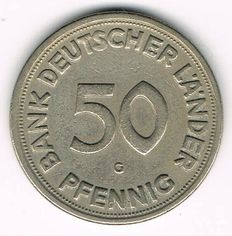 West Germany - 50 Pfennig 1950 G Bank deutscher Länder