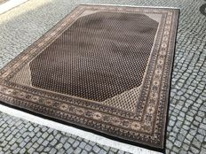 IN BLACK COLORS INDO - MIR RUG 350x250 cm -hand knotted