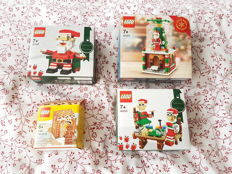 Seasonal - 40206 + 40223 + 40205 + 5005156 - 2 x Christmas set + snow globe and gingerbread man