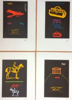 Fabio de Poli - A series of four lithographs with black background