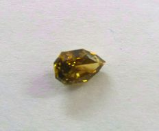 0.85 ct octagon brilliant natural fancy olive