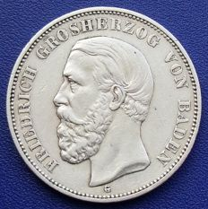 Empire, Baden – 5 Mark - 1902 G – silver