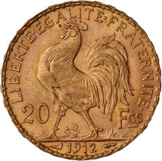 France - 20 Francs 1912 'Marianne' - or