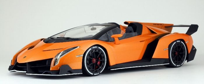 Kyosho - Scale 1/18 - Lamborghini Veneno Roadster - Orange metallic ...