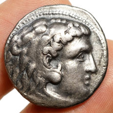 Ancient Greece - ALEXANDER III The Great (Ptolemy I. Soter, 323-305) AR tetradrachm, Arados