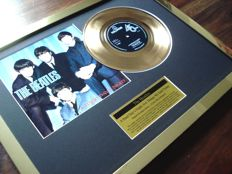 "The Beatles A Hard Day's Night 24ct gold plated 7"" record single disc"
