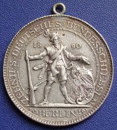 German Empire – silver medal 1890 X German union shooting in Berlin