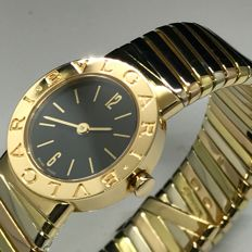 Bulgari BB232TYWP Tubogas 18K Tri Gold watch