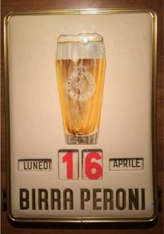 Peroni beer calendar with stamp duty
