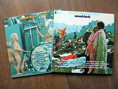 Woodstock & Woodstock Two, all together 5 vinyl records in a beautiful condition