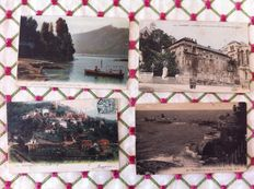 "France - lot of 147 old postcards, some semi-modern postcards of cities, villages and others and various themes like ""houseboats, canals, rivers"""