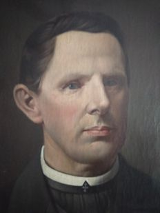 Unknown (20th Century ) - Portrait of a priest