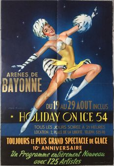 Russ - Holiday on Ice Arènes de Bayonne, Patinage Artistique - 1954