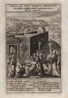 Anthony Wierix ( 1550 - 1604 ) -The Feast of Tabernacles - 1593