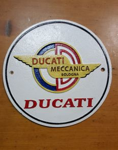 Cast iron emblem - DUCATI - 1940s (replica)