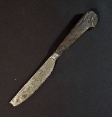 Post-medieval knife marked with wooden handle - 190 mm
