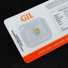 Natural Intense Greenish Orangy Yellow Diamond – 0.34 ct,