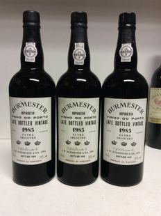 1985 Burmester Late Bottled Vintage 'Extra Selected' Port - 3 bottles