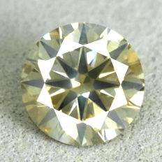 Diamond - 1.02 ct, Natural Fancy Intense Yellowish Green  Si2