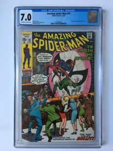 Marvel Comics - The Amazing Spider-Man #91 - CGC Graded 7.0 - 1x sc - (1970)