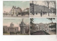 Lot with 183 postcards from Brussels 1900 - 1950