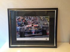 Nigel Mansell Signed framed : 1992 World Champion
