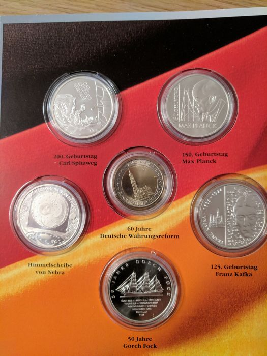 Germany – 2 and 10 euro set 2008 – silver