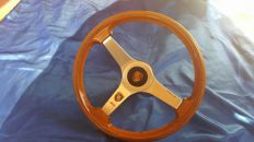 Porsche Carrera RS wood steering wheel + Porsche Hub