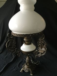 An old standing ship's lamp
