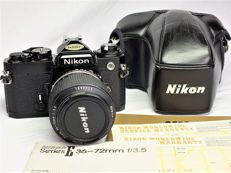 Nikon FE Body + Nikon E series Zoom 36-72 mm 1:3.5