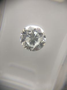 1.03 ct Round cut diamond D SI2