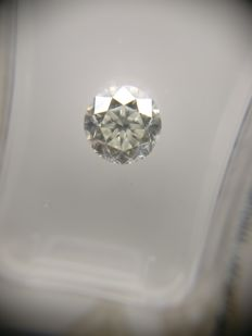 1.01 ct Round cut diamond E VS1