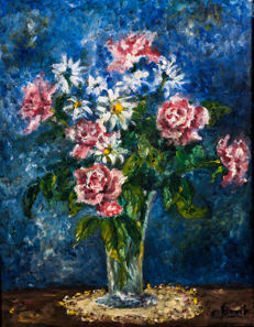 CH. Brook (mid 20th) - Composition florale N°1