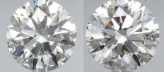 Pair of  Round Brilliant Diamonds 1.30ct total  D IF  3EX  GIA Original image 10EX - Serial# WD2280-WD2281