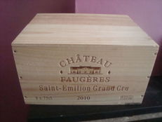 2010 Château Faugères, Saint-Emilion Grand Cru - 6 bottles of 75 cl in Original Wooden Case ( OWC )